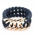 the Rubz Bracelet Midnight & Rose Gold Circle 25mm S